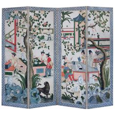 18th Century Painted Chinoiserie Screen | From a unique collection of antique and modern screens at https://www.1stdibs.com/furniture/more-furniture-collectibles/screens/