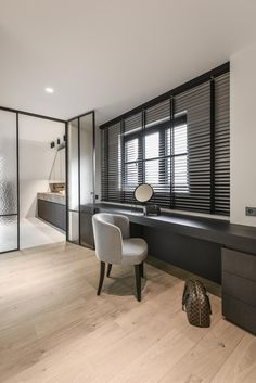 Home Office Design, Home Interior Design, Interior Architecture, Interior And Exterior, House Design, Home Bedroom, Master Bedroom, Japanese Interior, Beautiful Interiors