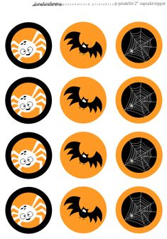 Free Printable Silly Bat and Spider Halloween Cupcake Toppers Moldes Halloween, Halloween Quotes, Halloween Pictures, Halloween Gifts, Holidays Halloween, Vintage Halloween, Happy Halloween, Halloween Decorations, Stickers
