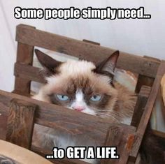 Some people simply need ... to get a life.