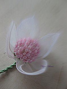 Nigar Hikmet Ribbon flowers