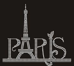PARIS EIFFEL TOWER Rhinestone Motif Design by BlingnPrintStreet