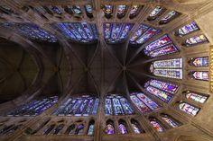 Panorámica vidrieras Catedral de León