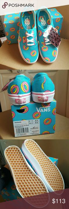 VANSxODD FUTURE Donuts/Scuba Blue W8/M6.5 NWTIB VANS and Odd future collab. Limited edition authentic orignals on OF Donuts and scuba blue/true white. Womens size 8/men's 6.5. Bundle with other vans items to give yourself a boss deal. PLEASE MESSAGE ME OR MY SISTER BEFORE BUYING EITHER OF OUR LISTINGS FOR THESE SHOES. WILL BE CANCELED OF YOU DO NOT CONTACT FIRST! Vans Shoes
