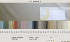 Voilage Lucie pour les hôtels et résidences disponible en différentes couleurs