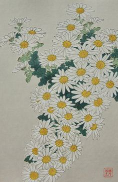 Kiku (Chrysanthemum) by Kawarazaki Shodo (1889 -1973)