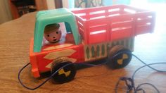 Vintage Fisher Price 1968 Trailer Truck by AlchemyCollectibles