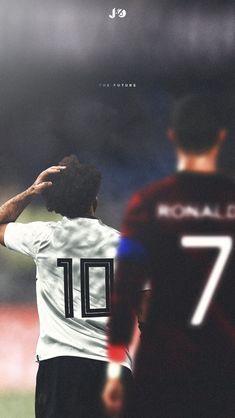 Mohamed Salah and Cristiano Ronaldo. Football Icon, Football Players, Soccer Post, Egyptian Kings, Mo Salah, Mohamed Salah, Shin Splints, Isco, Football Wallpaper