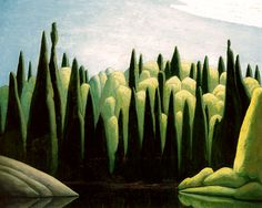"""Spring, Ox Tongue River by Lawren Harris, ca.1924. Oil, 32 x 40"""""""