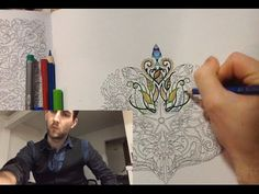 ASMR #3. Coloring book for sleep (no talking). Coloring pencils and ink pen sounds. - YouTube