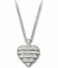 Swarovski Sensible Heart Small Pendant Necklace   Dillard's Mobile