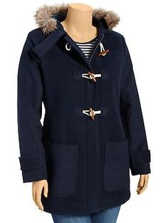 Women's Plus Hooded Toggle Coats | Old Navy