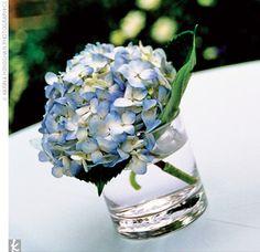 Small hydrangea table decoration