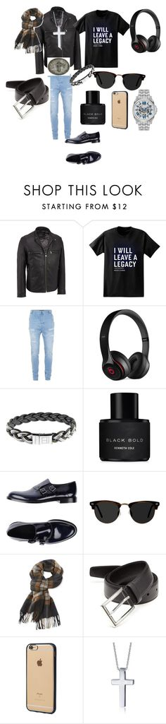 """""""Head turning cool macho in a party"""" by salmanshanu ❤ liked on Polyvore featuring Andrew Marc, Paul Frank, Topman, Beats by Dr. Dre, Tateossian, Kenneth Cole, Emporio Armani, Ace, L.L.Bean and Prada"""