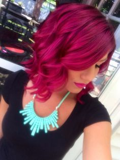 I wish I was this brave!!! Pravana Magenta & Wild Orchard