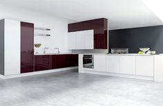 Modern kitchen cabinets from the Aran Cucine Penelope collection. Modern Kitchen Cabinets, Kitchen Furniture, New Kitchen, Kitchen Decor, Kitchen Models, Cabinet Design, Cool Kitchens, Contemporary Design, Room Decor