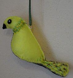 Cytrynowy ptak-filc