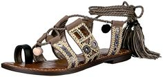 Sam  Edelman  womens  gretchen  gladiator  sandal  putty black natural multi