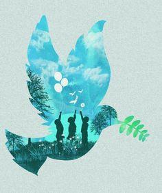 dan elijah g. Peace Art, Peace Dove, Peace Drawing, Peace Painting, Peace Poster, World Peace, Peace And Love, Watercolor Art, Art Drawings
