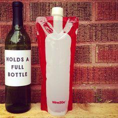 Wine2Go. The foldable wine bottle