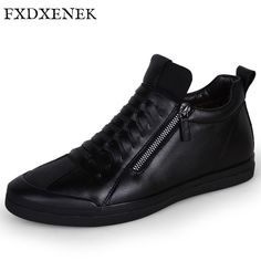 FXDXENEK Brand Microfiber Leather Shoes Fashion New Style Soft Winter Plush Warm Men Casual Shoes High Top Black Men Flats Shoes. Yesterday's price: US $65.54 (53.68 EUR). Today's price: US $34.74 (28.72 EUR). Discount: 47%.