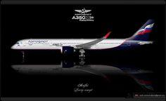 https://flic.kr/p/pGTnwe | Aeroflot Livery concept | Aeroflot / Airbus A350XWB / Livery concept