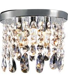 Inspire Venetia Glass Droplets 3 Light Ceiling Fitting