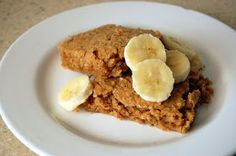 Dinner with Danielle: Baked Peanut Butter and Banana Oatmeal Squares {4 WW+ Breakfast}
