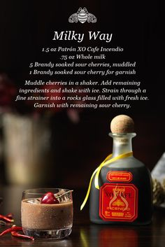 Fun-sized and on the rocks. Stir up our #Halloween Milky Way with Patrón XO Cafe Incendio.