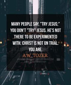 A W Tozer: Christ is not on trial Bible Verses Quotes, Faith Quotes, Scriptures, Pastor Quotes, Wisdom Bible, Quotable Quotes, Christian Life, Christian Quotes, Christian Friends