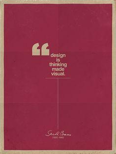 What is visual thinking ? - Design. Sessak's favorit interior design quote