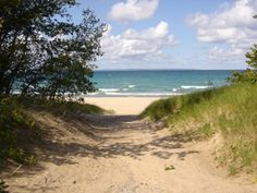 The path to Van's beach in Leland, MI. Dad and I had some great talks and time spent here this last summer....