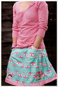 Shelly Shirt Damen Sommer nähen Ebook Papierschnittmuster Schnitt Jolijou
