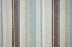 P/M Villa Nova Saskia Duck Egg Blue Stripe Chenille Curtain Upholstery Fabric | eBay