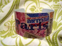 OOAK Paris Stamp Travel to Europe Multicolored by kiki6462 on Etsy, $22.00