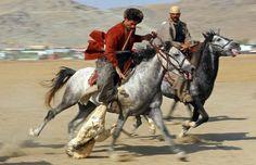 BUZKASHI Kyrgyzstan And Decapitated Goats  Lazer Horse