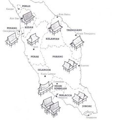 the variety of ascent from different regions plot against the Peninsular Malaysia map to be precise and simply put.
