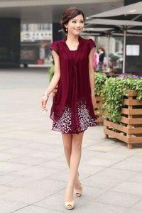 4 COLOURS Vestido Chiffon Dress Flower Print Above Knee Short Romantic Casual including PLUS SIZE
