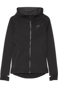 Nike - Tech Fleece Cotton-blend Jersey Hooded Top - Black - x small