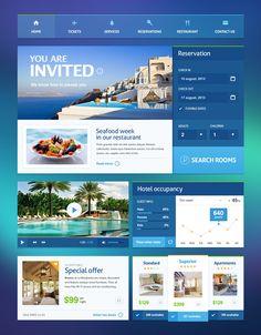 Web design & ui / Hotel ui