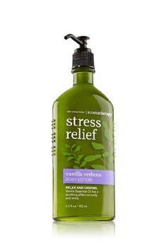 Bath & Body Works Aromatherapy Stress Relief Vanilla Verbena Body Lotion
