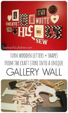 Create an off-the-wall gallery wall // I'm so pleased with my new #gallerywall. It's a fun addition to my home office/craft room. [My Handmade Home by Heather Laura Clarke]