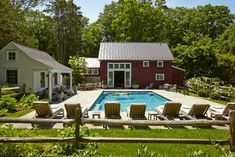 Connecticut Barn and Pool House - farmhouse - pool - other metro - EPiC