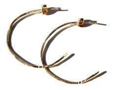 venus .5 inch hammered gold earrings