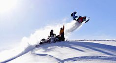 snowmobile jump in vail