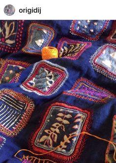 Stitching by Dijanne Cevaal, Australian textile artist.