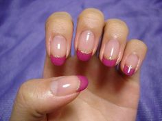 Fuschia Tips with Gold Trim