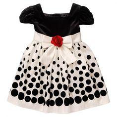 Multi Dot Flock Dress