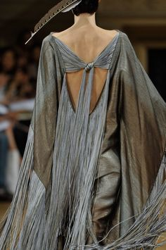 long gray fringe couture