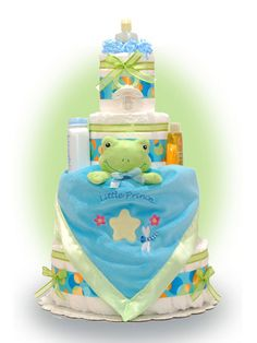 Froggy Diaper Cake